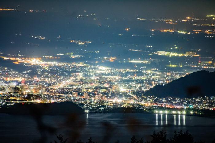 だるま山高原キャンプ場からの駿河湾と沼津の夜景