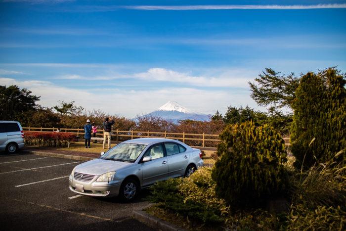 だるま山高原キャンプ場からの富士山の眺め