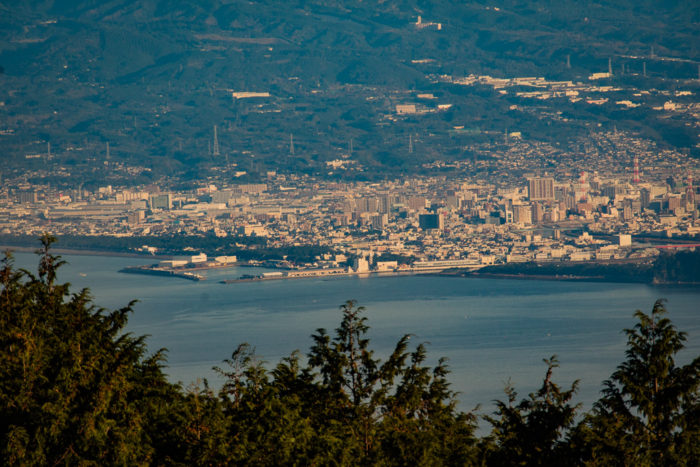 だるま山高原キャンプ場からの沼津市の眺望