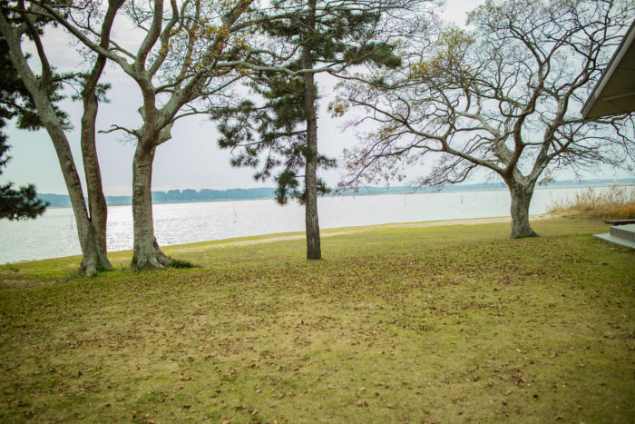 親沢公園キャンプ場から見た涸沼