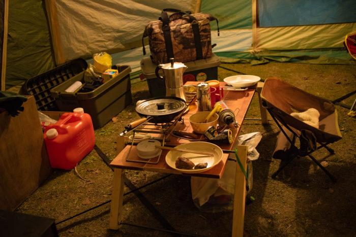 親沢公園キャンプ場の夜
