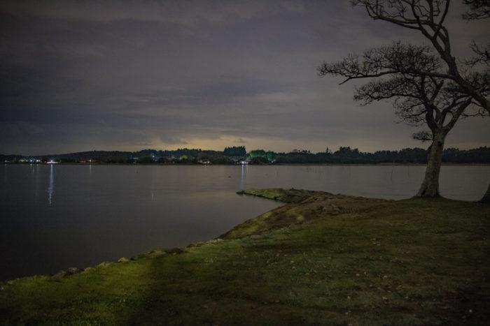 親沢公園キャンプからの夜の涸沼