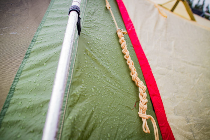 雨の中の親沢公園キャンプ場でのキャンプ
