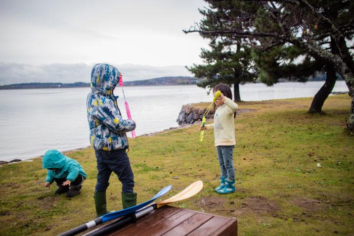 雨上がりの親沢公園キャンプ場。