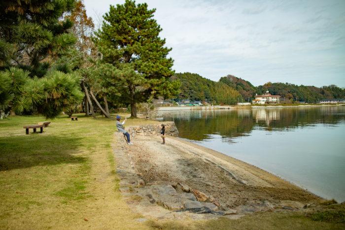 親沢公園キャンプ場の到着して記念撮影w