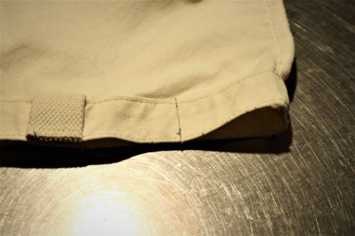 古くなった無印のトートバッグを利用してペグバッグを作成、脇を縫っちゃいました。