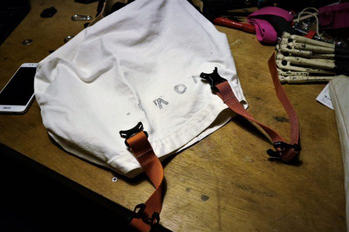 古くなった無印のトートバッグを利用してペグバッグを作成