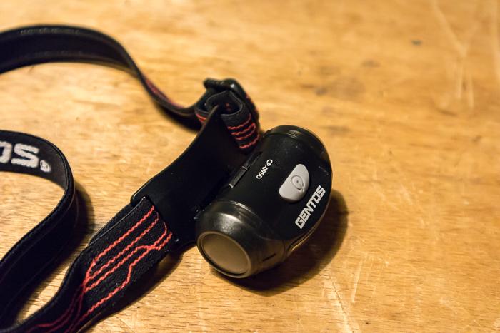 GENTOSLEDのヘッドライトCP-095Dのスイッチ