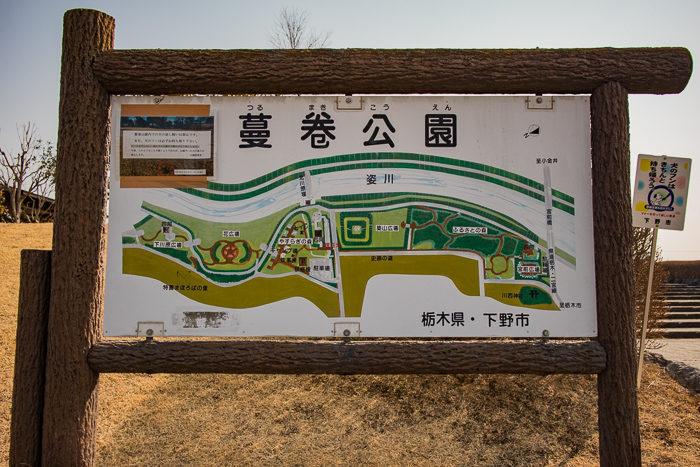 蔓巻公園キャンプ場の看板