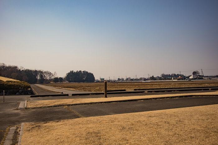 蔓巻公園キャンプ場の周りの長閑な風景