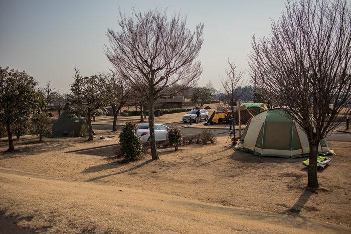 蔓巻公園キャンプ場のサイト風景