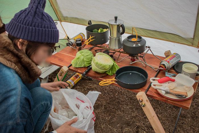 蔓巻公園キャンプ場でポトフを作る