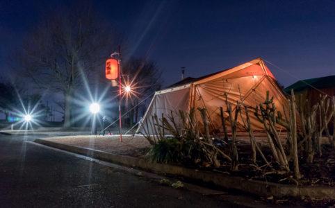 蔓巻公園オートキャンプ場の宴会場のカヤード