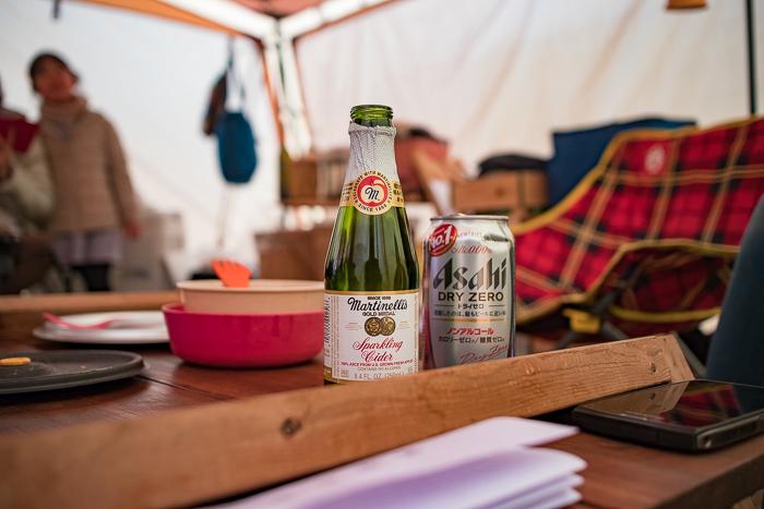 蔓巻公園オートキャンプ場で朝のビール