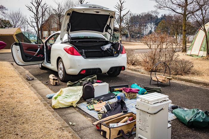 蔓巻公園オートキャンプ場でのキャンプの撤収