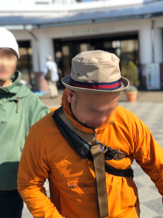 diagnlのNinja Strap 38mm スウェード コヨーテブラウンの装着具合