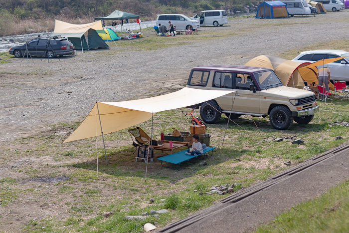 田代運動でデイキャンプしたときの設営後