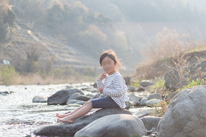 田代運動でデイキャンプしたときに遊んだ中津川