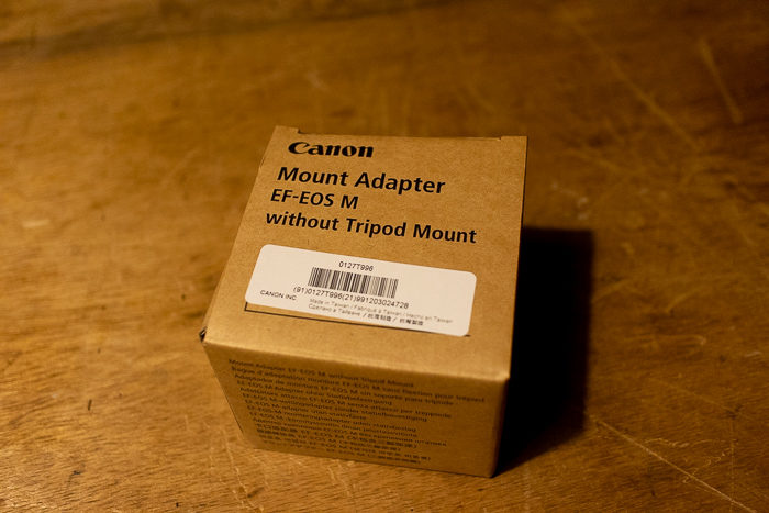 EOS Mマウント用EFマウンドアダプター