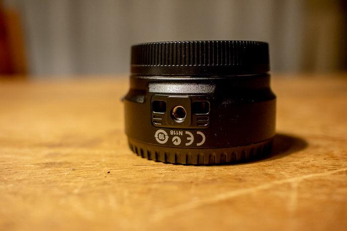 EOS Mマウント用EFマウンドアダプターのカメラネジ