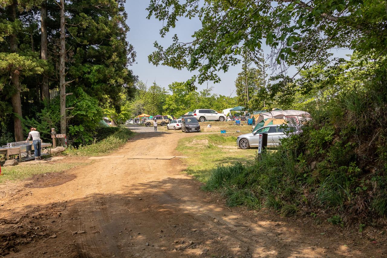 鷲の巣キャンプ場のフリーサイト