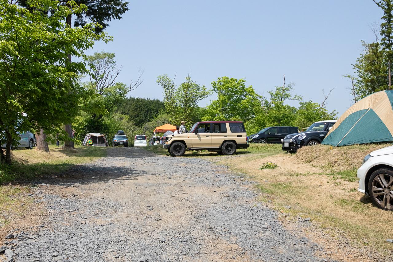 鷲の巣キャンプ場のGW前半のフリーサイト