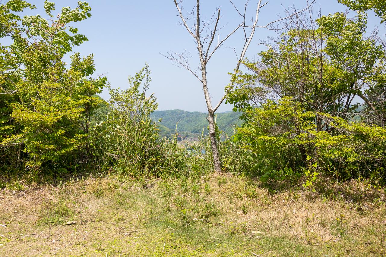鷲の巣キャンプ場のフリーサイトから眺望