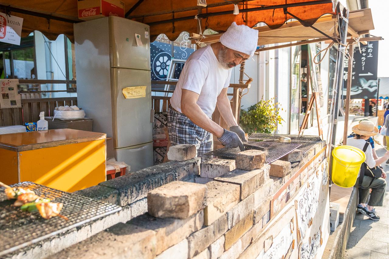 2018年春の益子陶器市でいつも行く焼き鳥屋さん