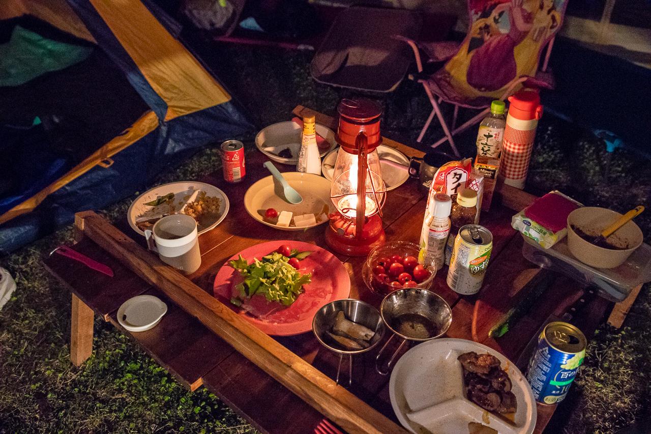 鷲の巣キャンプ場で夕飯