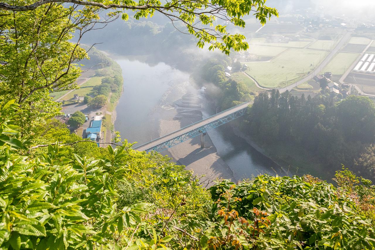 鎌倉山展望台からの那珂川の眺め