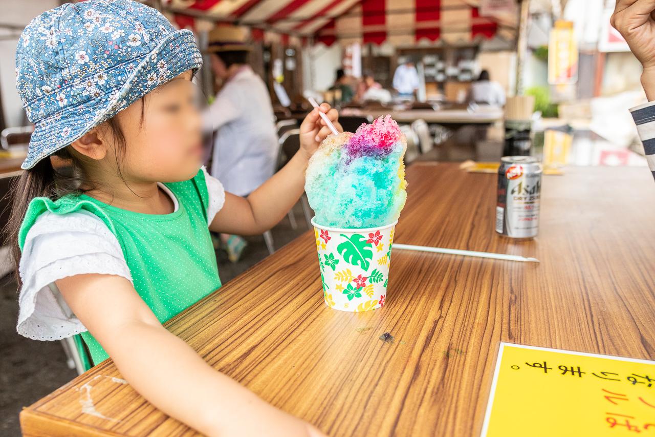 2018春の益子陶器市でかき氷を食べる