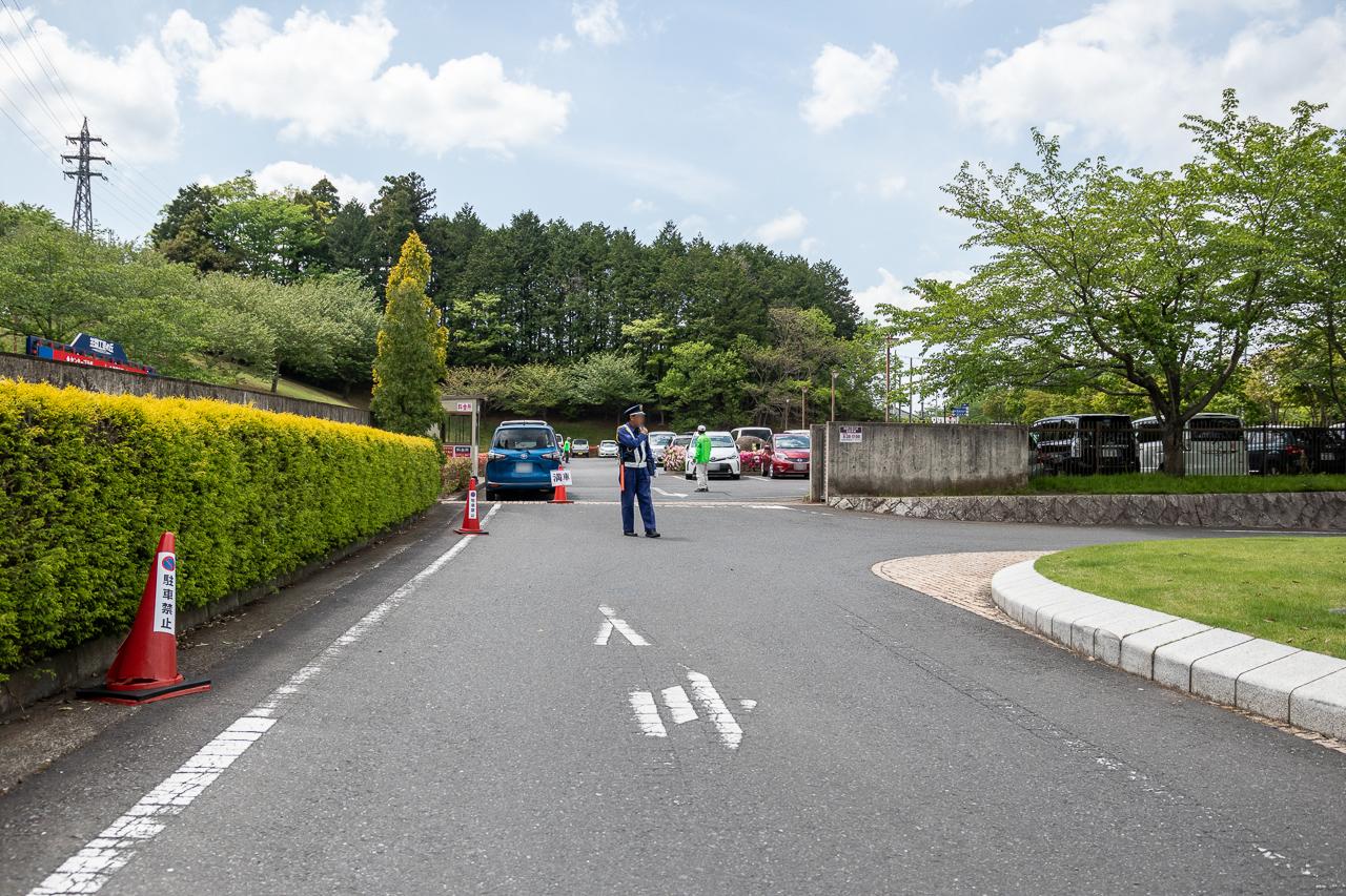 2018年笠間の陶炎祭(ひまつり)の駐車場