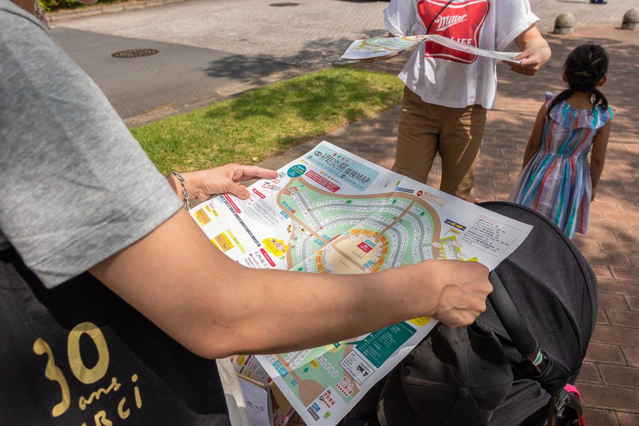 2018年笠間の陶炎祭(ひまつり)の地図