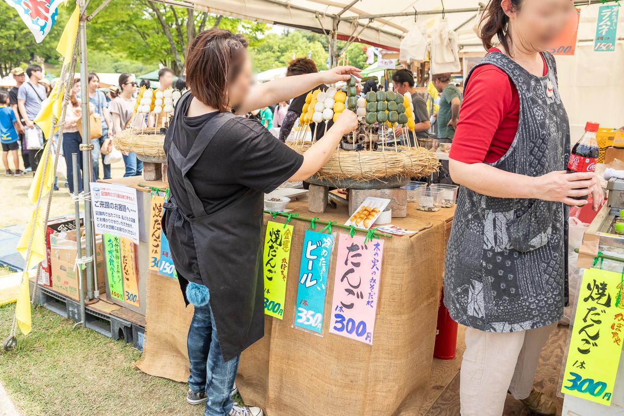 2018年笠間の陶炎祭(ひまつり)の団子屋さん