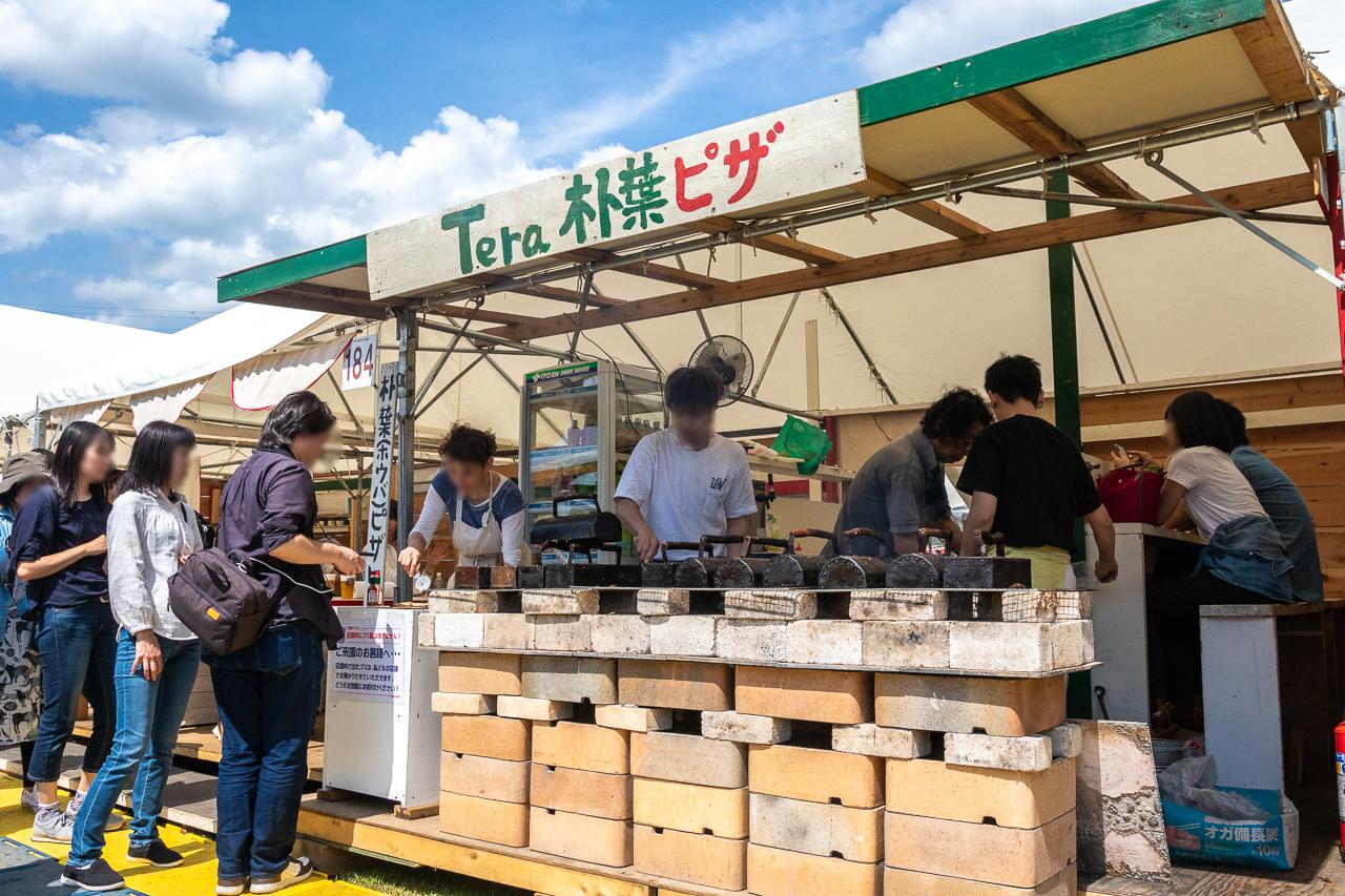 2018年笠間の陶炎祭(ひまつり)のピザ屋さん