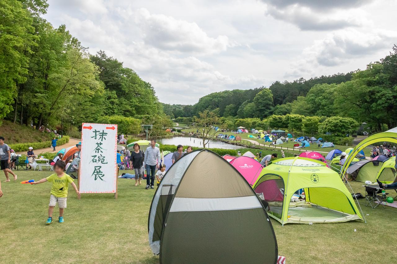 2018年笠間の陶炎祭(ひまつり)の広場でテント