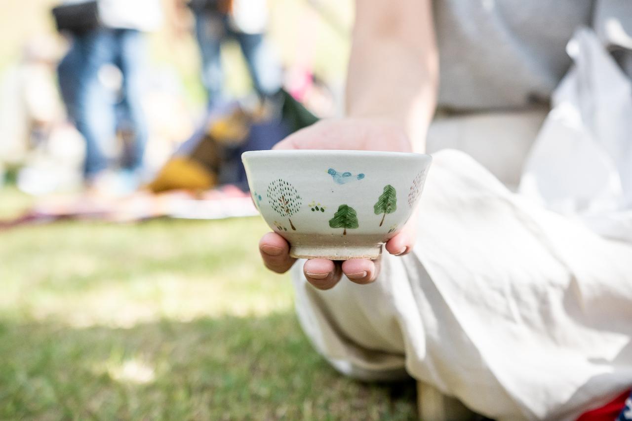 2018年笠間の陶炎祭(ひまつり)で買った娘用のご飯茶碗