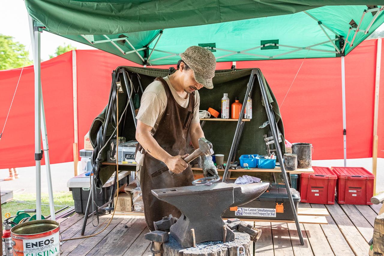 2018年笠間の陶炎祭(ひまつり)の鍛冶屋さん
