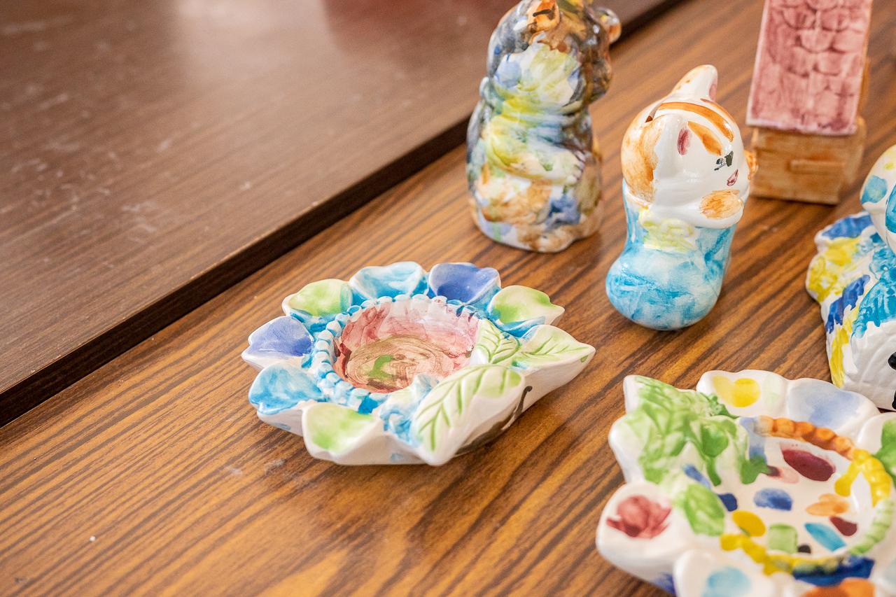 2018年笠間の陶炎祭(ひまつり)で陶器の色付け