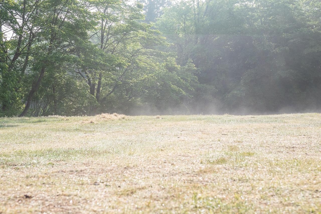 GWの鷲の巣キャンプ場の朝