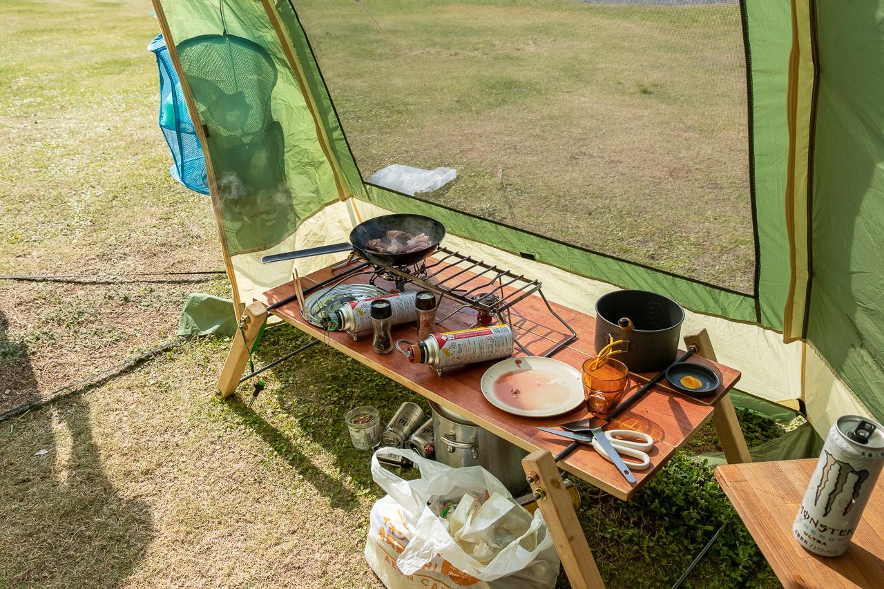ノースイーグルのオクタゴンで朝食
