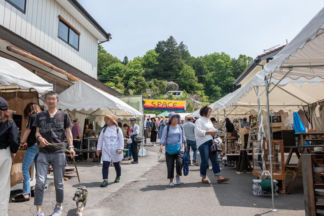 2018春の益子陶器市のpeace spaceの開催風景