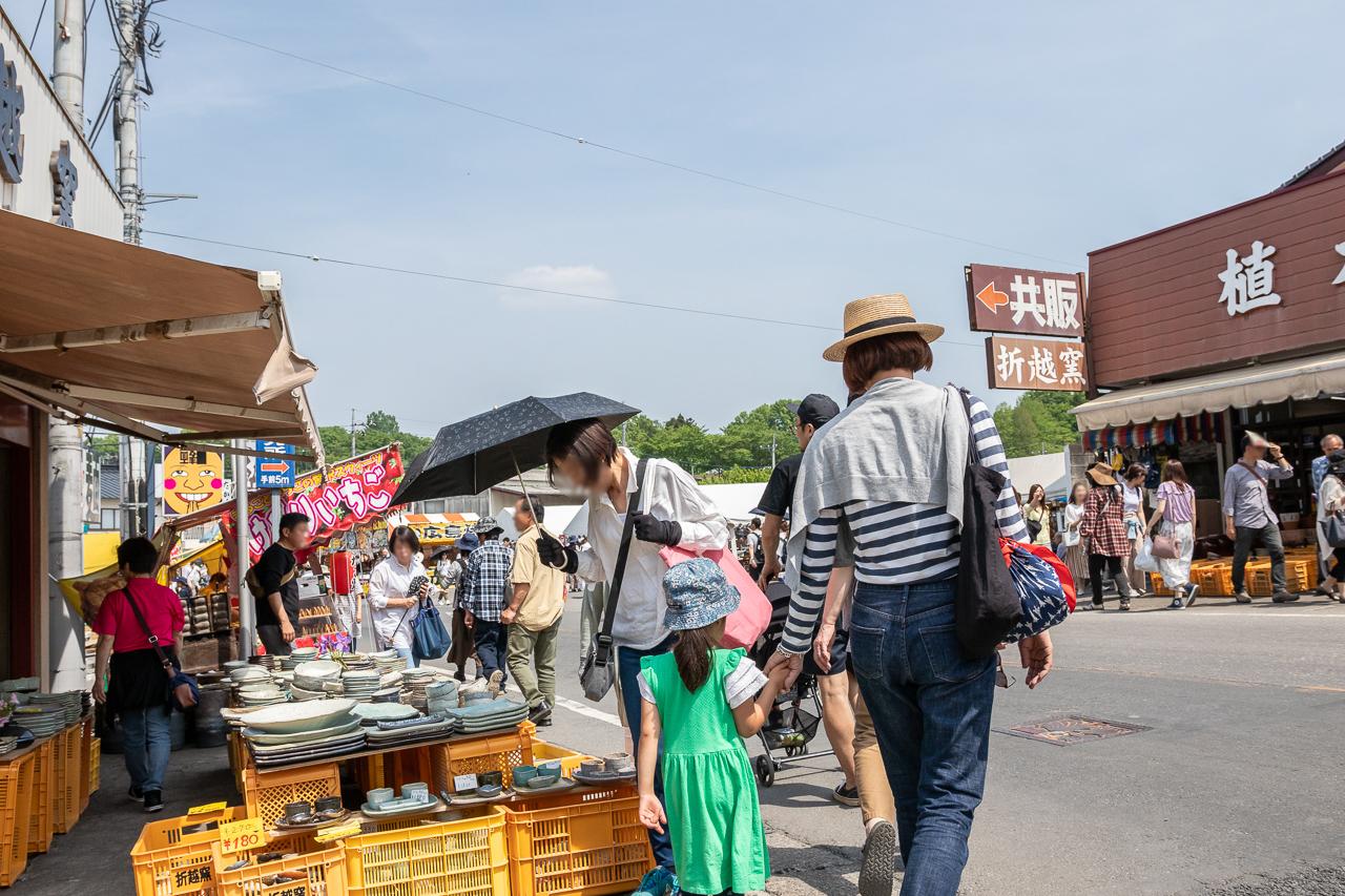 2018春の益子陶器市の開催風景