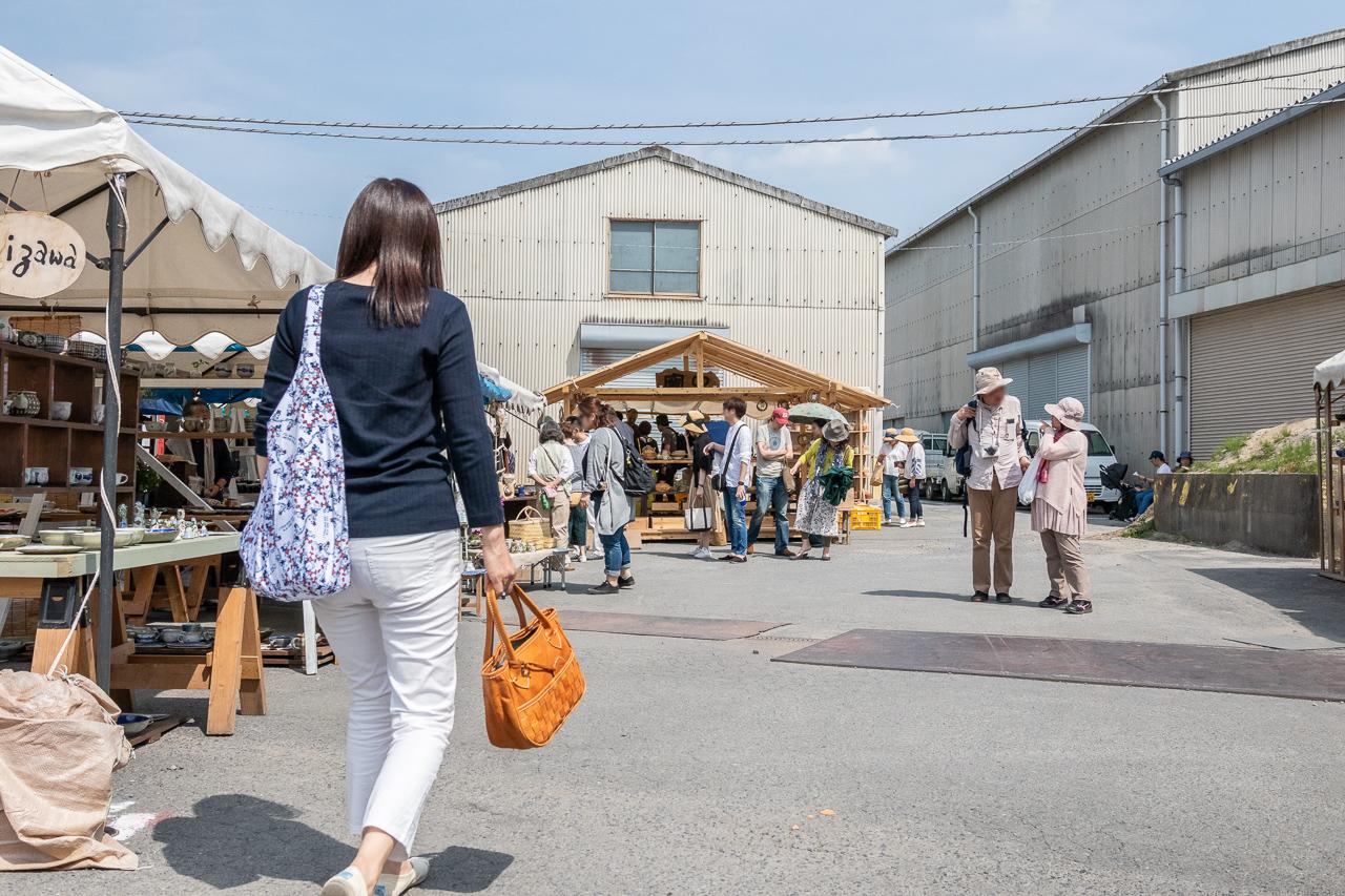 2018春の益子陶器市のくみあい広場の開催風景