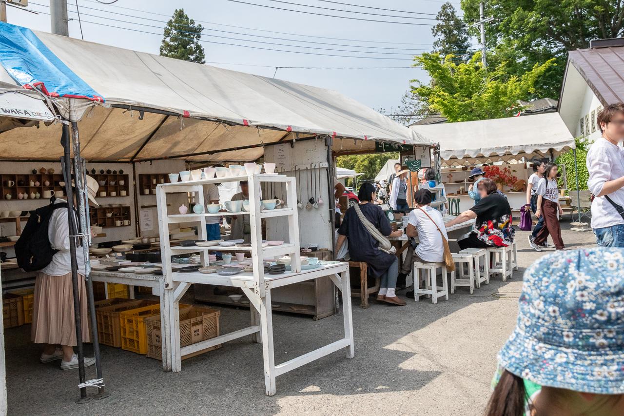 2018春の益子陶器市のKENMOKUテント村