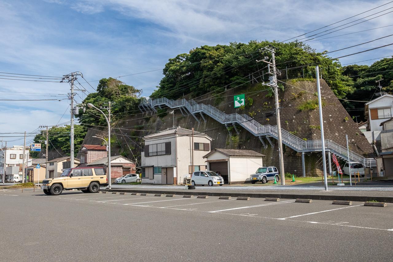 城ヶ島第4駐車場から高台への風景