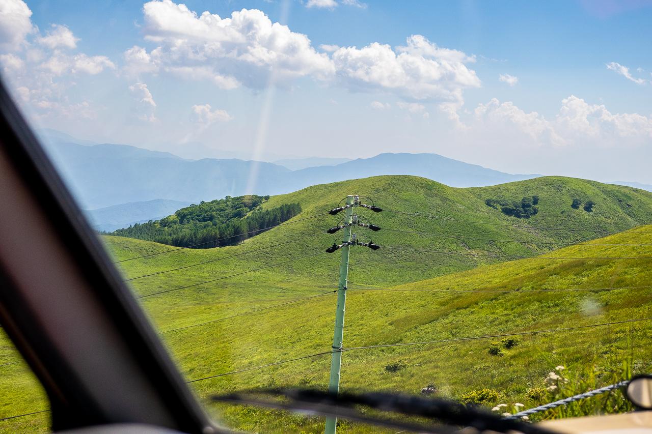 霧ヶ峰キャンプ場へ向かう途中のビーナスライン