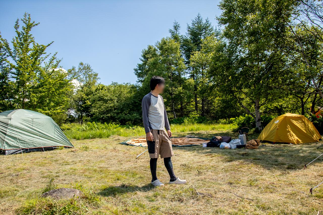 霧ヶ峰キャンプ場でブロガー仲間に合流