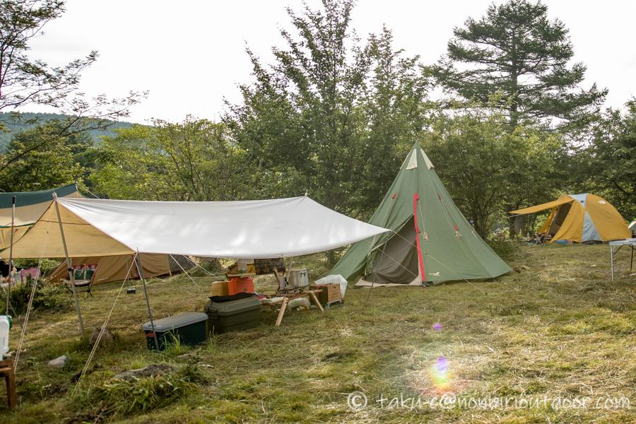 霧ヶ峰キャンプ場の翌日は快晴