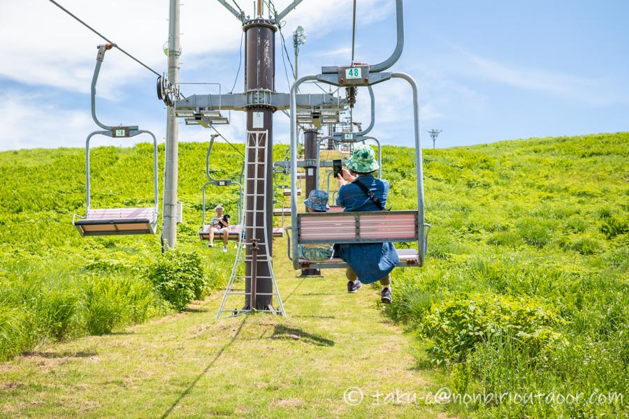 霧ヶ峰スキー場の夏のリフト
